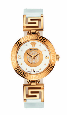 Versace unveils the V-Signature with diamond pavé, a new line of watches, inspired by the latest fashion accessories, reflecting the iconic style and glamorous aesthetics of the Maison. #VersaceWatches #Versace.