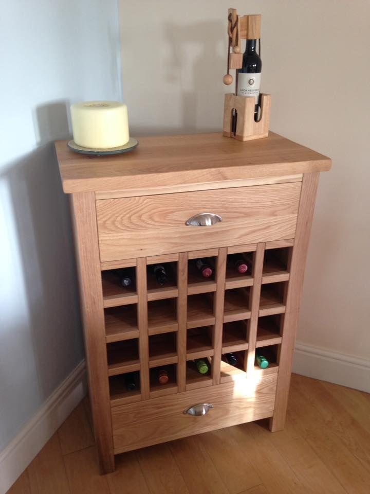 A Beautiful Solid Oak Wine Rack With 2 Storage Drawers. Cobwebs Furniture  Company.