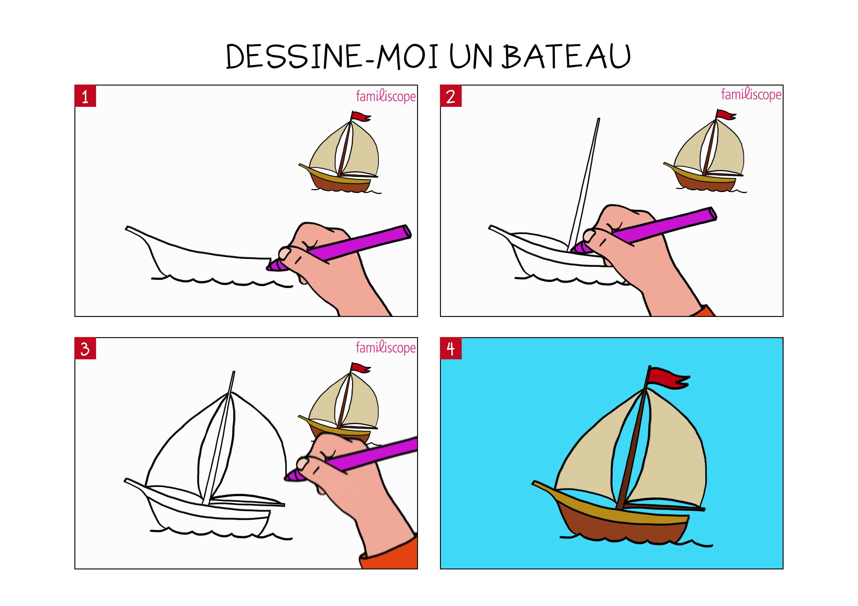 Beau Dessin A Imprimer Bateau De Course