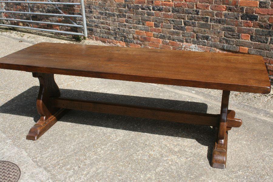 Tressel Table Antique Oak Trestle Table Tables 2m To 2 5m