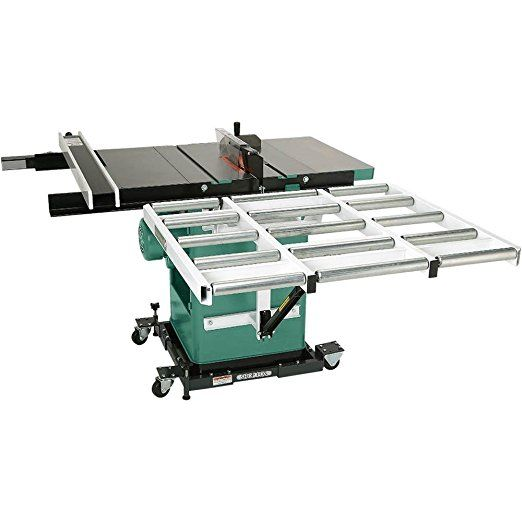 Grizzly G1317 Outfeed Roller System For Table Saws 37 Inch Best Portable Table Saw Table Saw Stand Cheap Table Saw Table Saws Table Saw Hybrid Table Saw