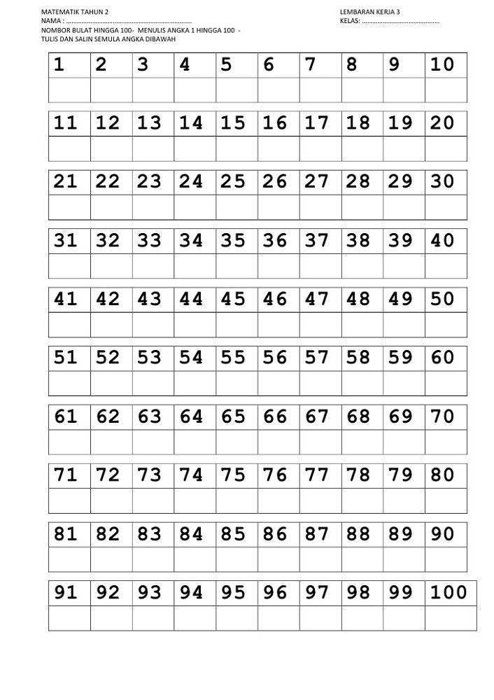 Trace Numbers 1-100 | Writing numbers, Number worksheets ...