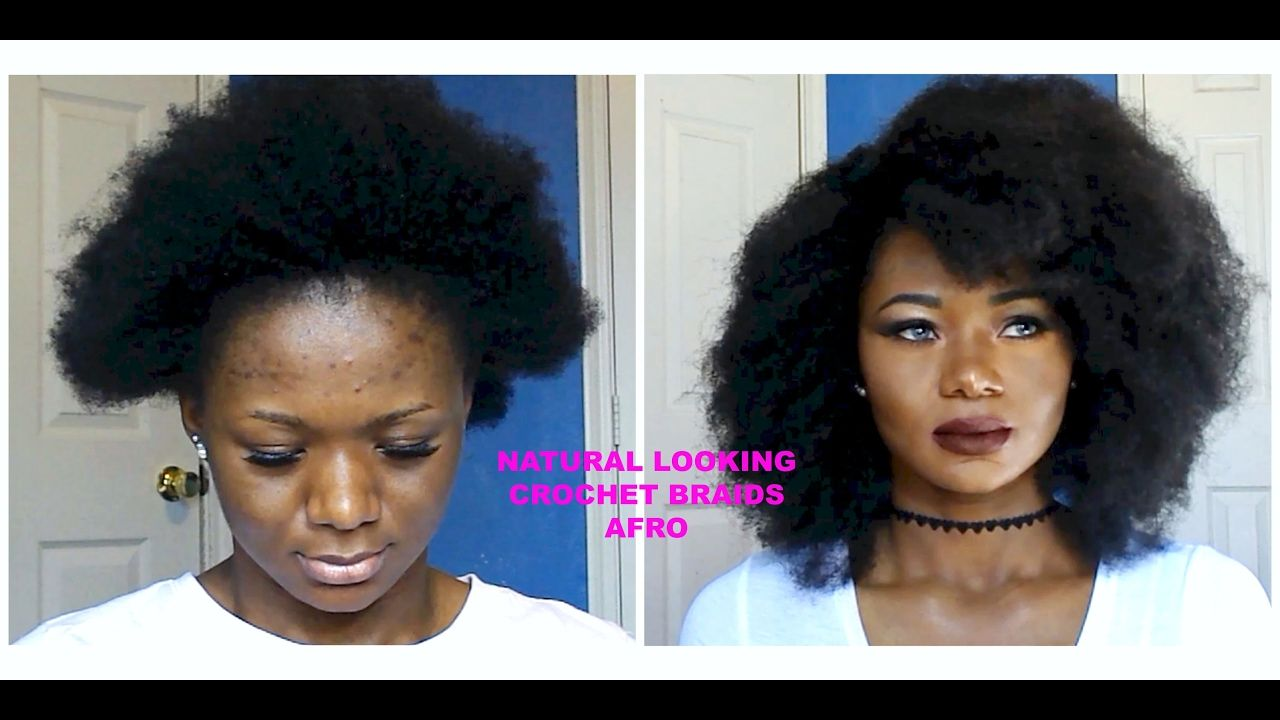 Faux Afronatural Looking Crochet Braids No Leave Out Hair For