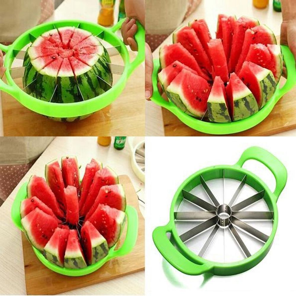 Watermelon Cutter Cantaloupe Melon Slicer Stainless Steel