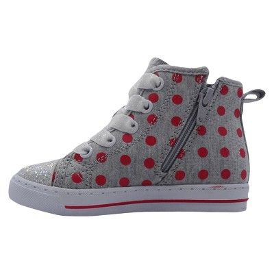 Toddler Girls' Minnie Mouse High Top Sneakers 11 - Gray