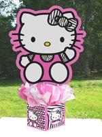 hello kitty baby shower zebra hello kitty centerpiece birthday