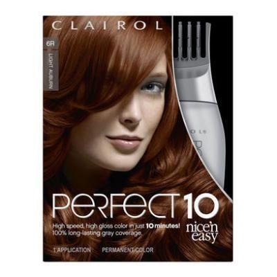 Clairol Perfect 10 by Nice 'n Easy Hair Color 006R Light Auburn 1 Kit