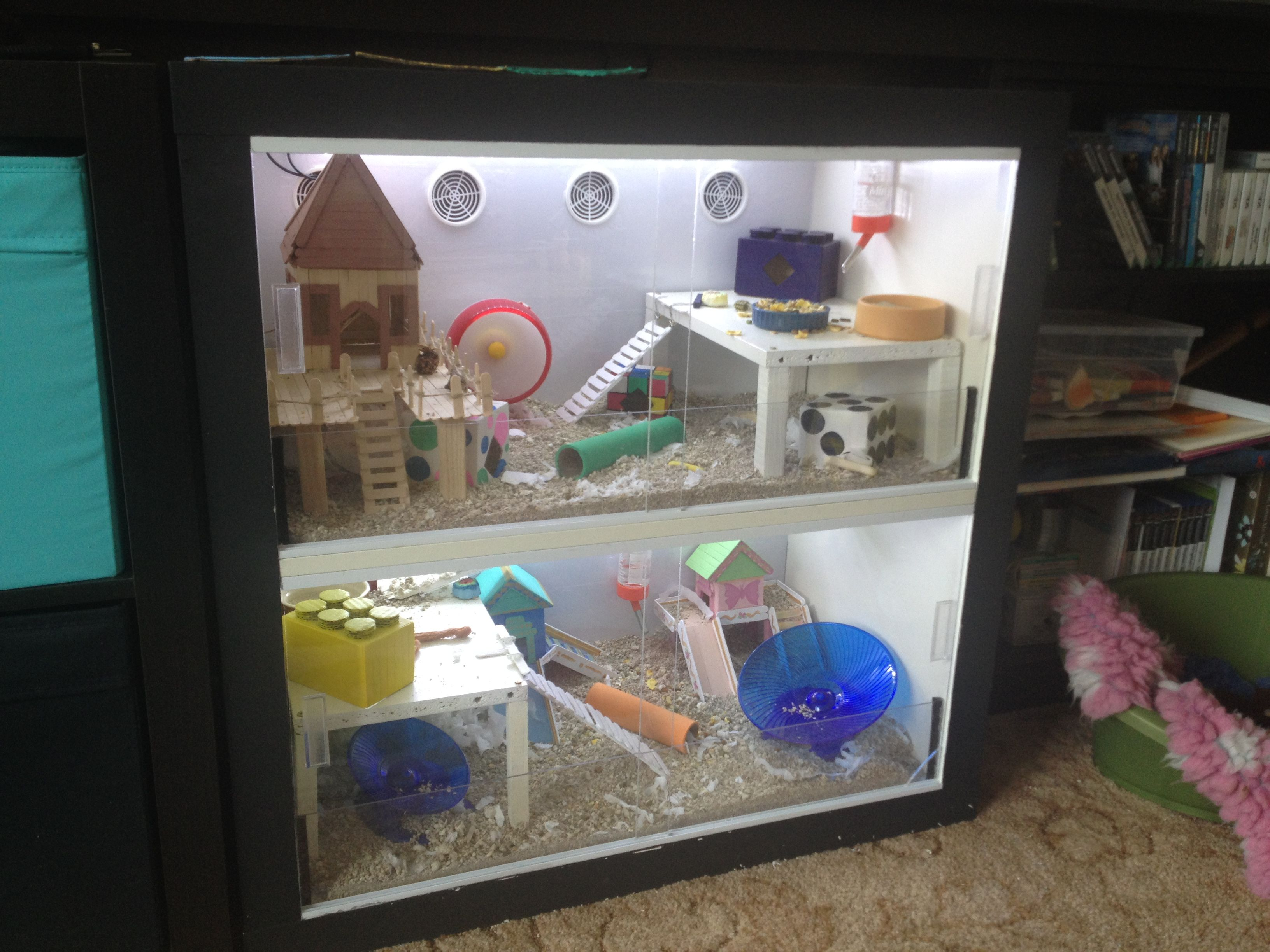 diy hamster cage made from ikea unit check out how easy