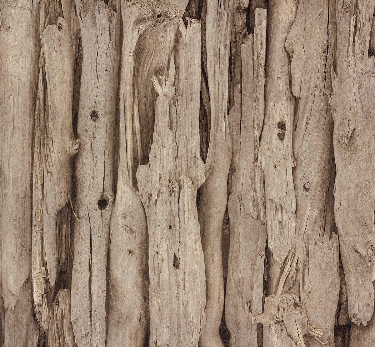 Tapete HolzOptik Treibholz Vintage Rasch Braun 273304  Hintergrund in 2019  Tapete holz