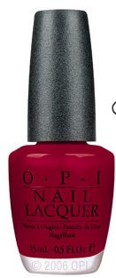 OPI - Chick Flick Cherry Perfect, deep red for Fall  di'Lush: Nail Trends for Fall