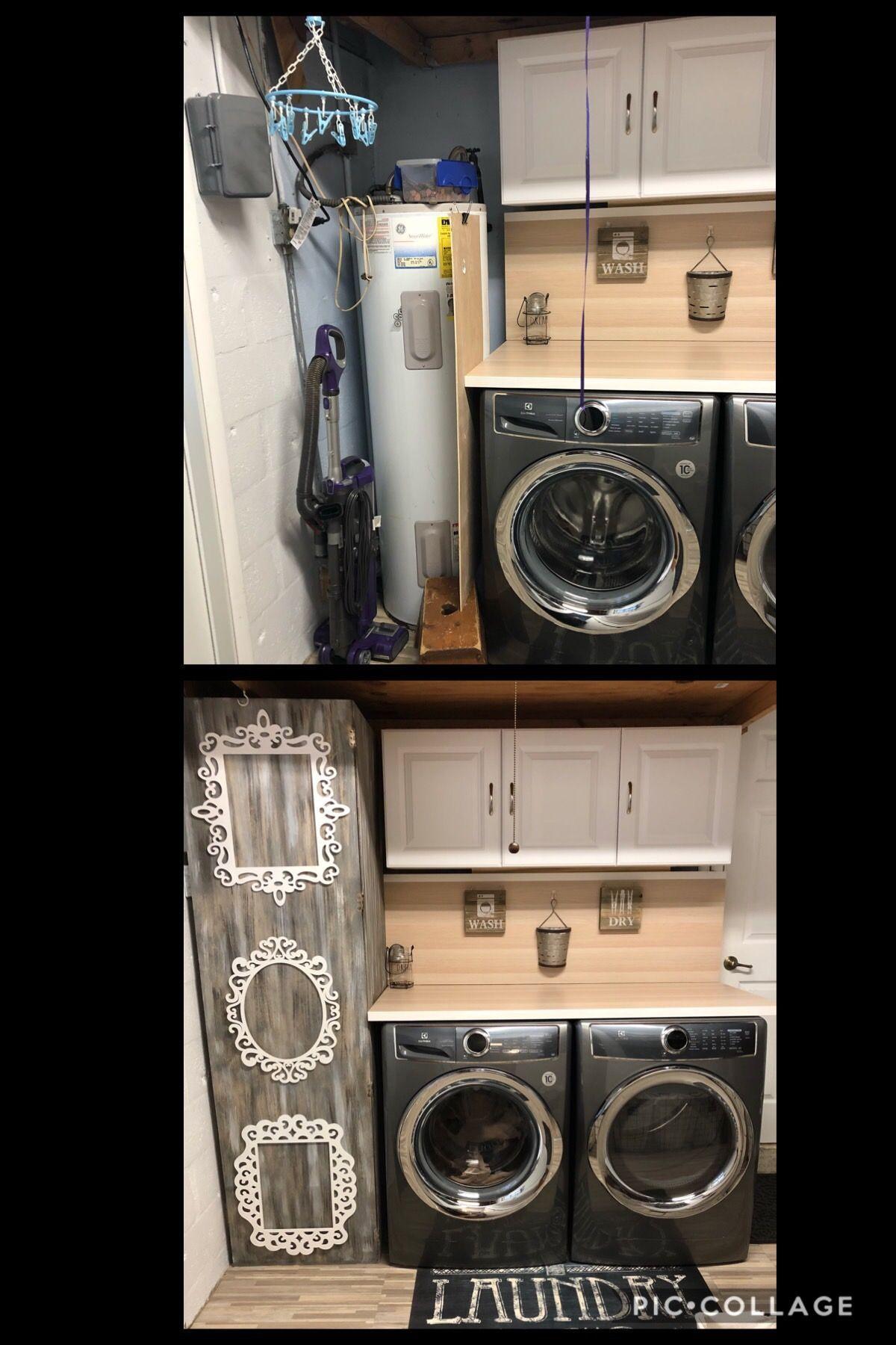 Before After Hidden Water Heater Heater Hidden Water Heaterheater Hidden Water Hide Water Heater Garage Laundry Rooms Water Heater Closet