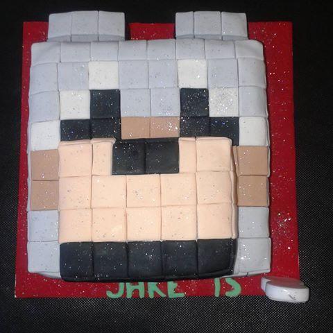 Minecraft Wolf Cake Neridascakes Novelty Boys