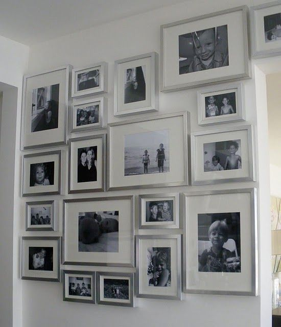 Silver Frames So Pretty Photo Arrangements Picture Wall