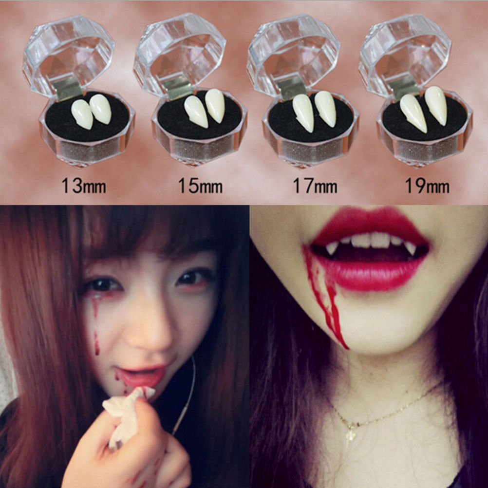 Bloodcurdling Vampire Werewolves Fangs Fake Dentures Teeth Costume HalloweePLCA