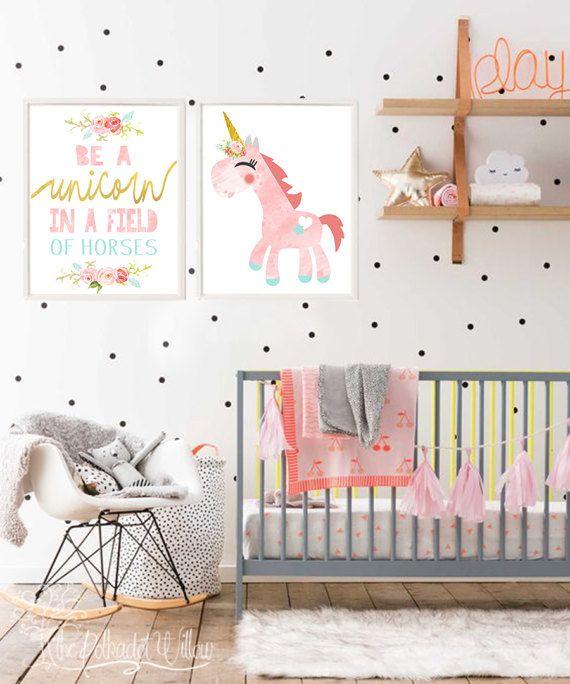 f6121f3f62684 8x10 11x14 DIGITAL Unicorn print set, unicorn watercolor, unicorn ...