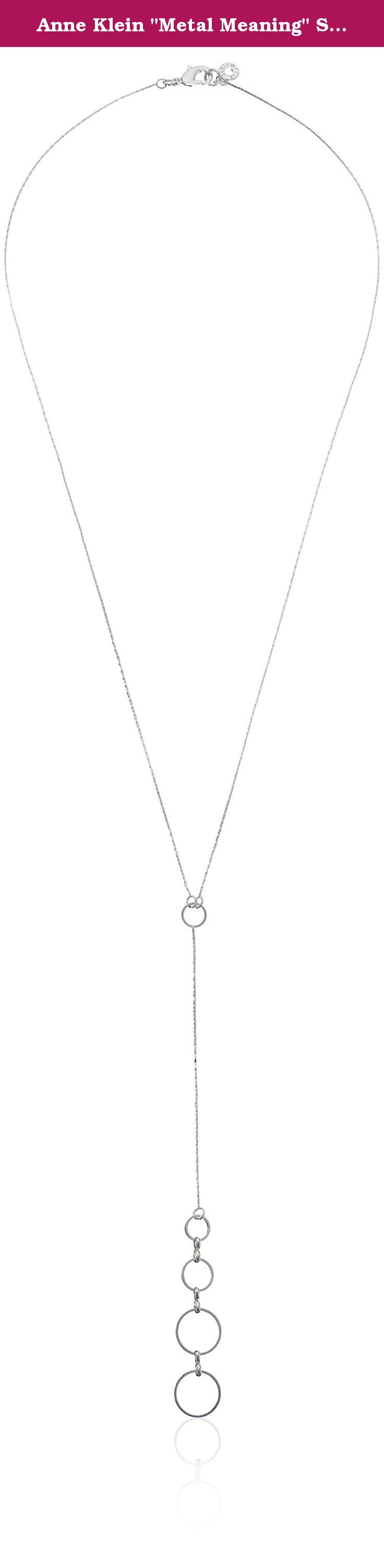 Anne klein metal meaning silver tone double drop open circle anne klein metal meaning silver tone double drop open circle pendant y aloadofball Images