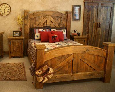Muebles para dormitorios y camas r sticas un encanto for Recamaras rusticas juveniles