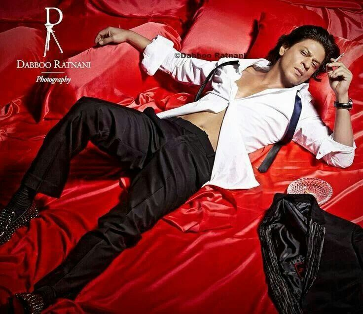Image result for shahrukh khan red bed