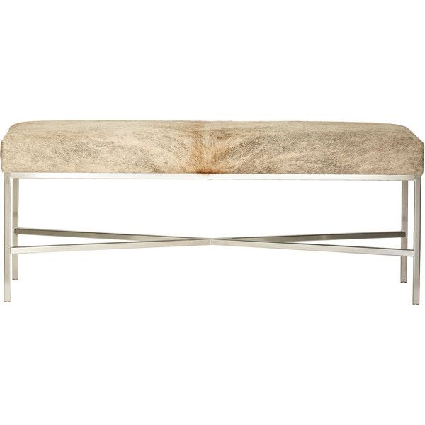 Barneys New York Cow Hide Bench ($1,500) ❤ Liked On Polyvore Featuring Home,