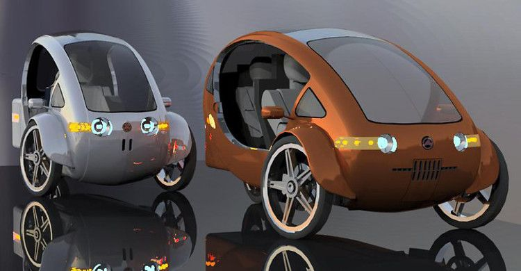 Is This Solar Powered Half Electric Bicycle With A Roof The Future Of Transportation Electric Trike Solar Powered Cars Electric Bicycle