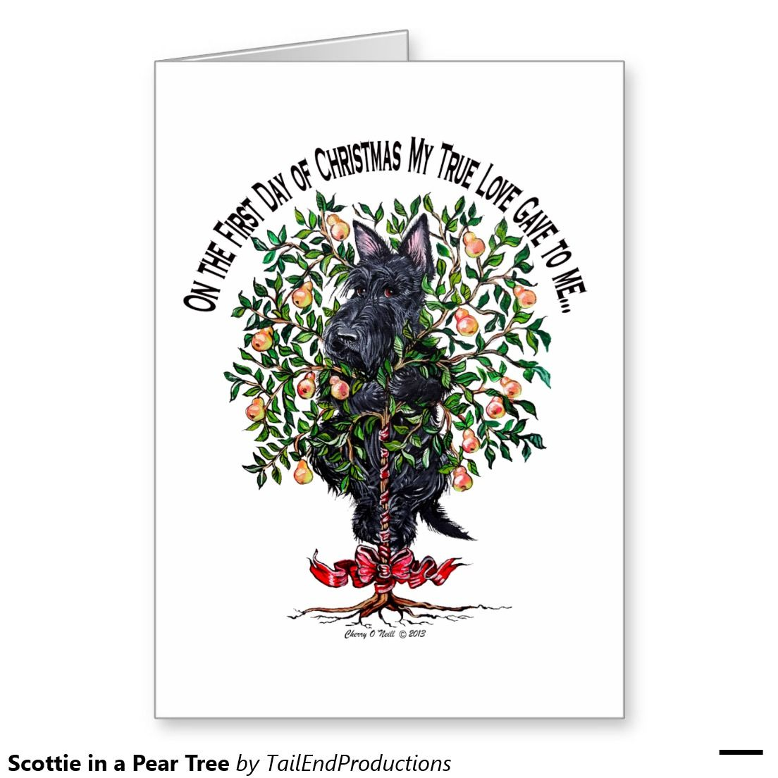 Scottie in a pear tree card trees as and pear tree greetings pear trees scottie in a pear tree greeting card kristyandbryce Gallery