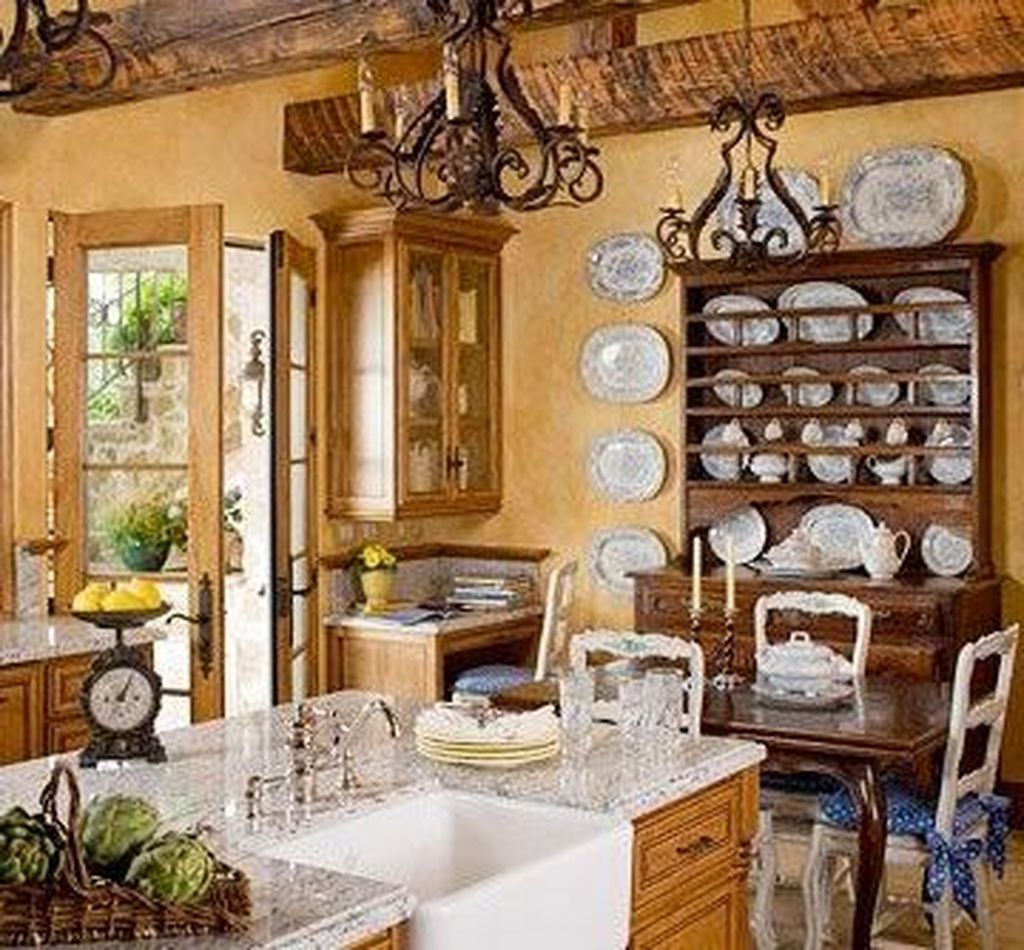 49 Stunning French Country Style Kitchen Decor Ideas