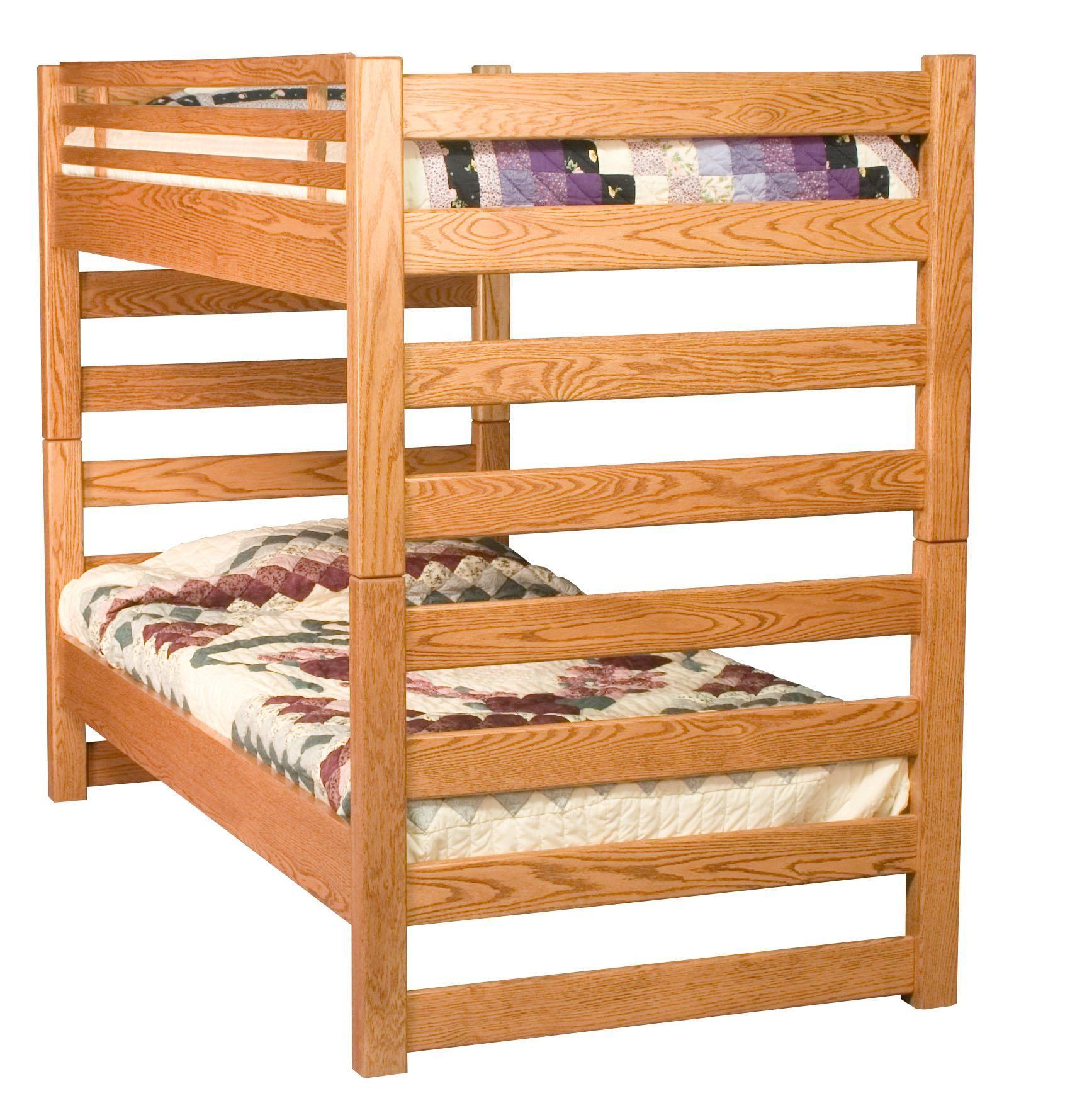 Amish ladder bunk bed