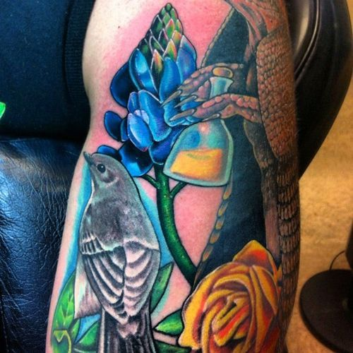 Making Progress On My Texas Sleeve Done By C K At Aasylum Tattoo In Galveston Inatexasway Tumblr Com Body Art Tattoos Tattoos Skin Art