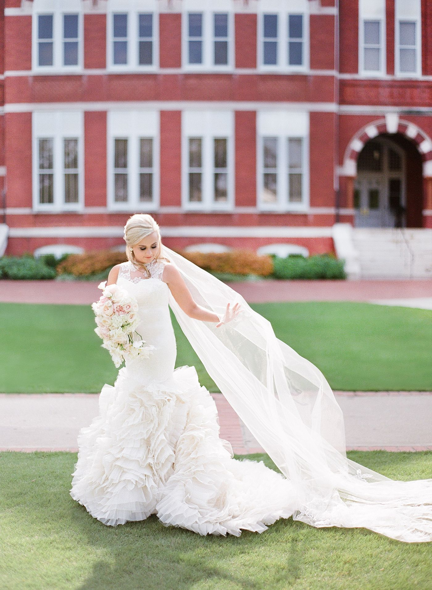 Wedding dress auburn