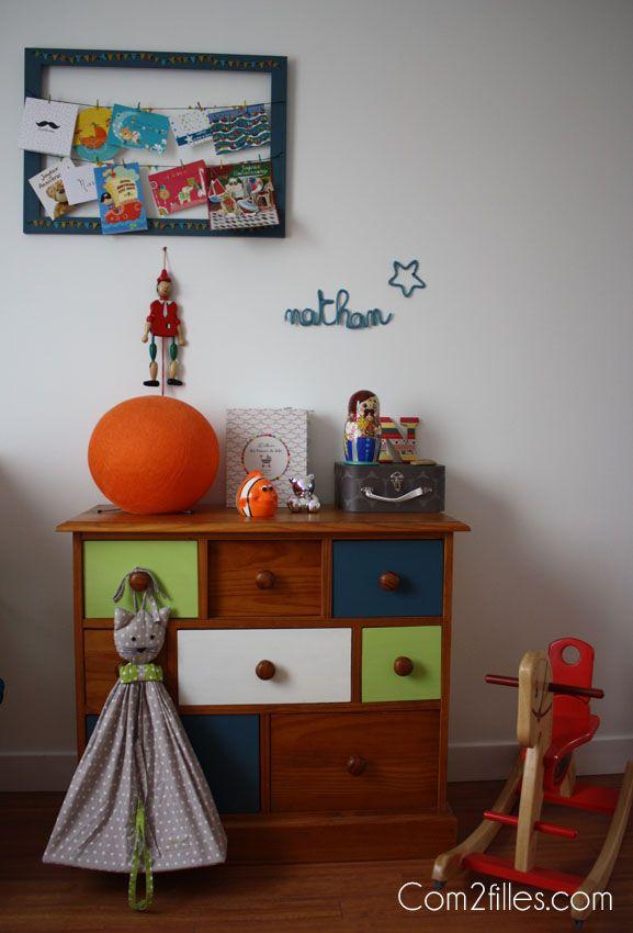 Une chambre colorée pour un petit garçon
