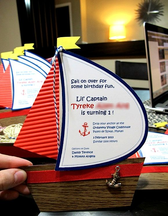 Diy Nautical Birthday Invitations 1st birthday party created