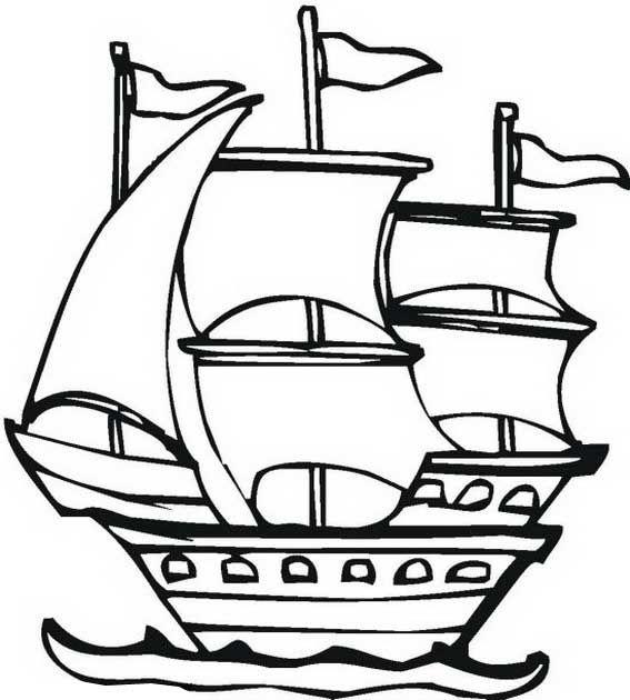 explorer ship coloring pages - photo#6