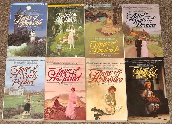 Anne Of Green Gables Books 1 8 Complete Set Lucy Maud Etsy Anne Of Green Gables Green Gables Favorite Childhood Books