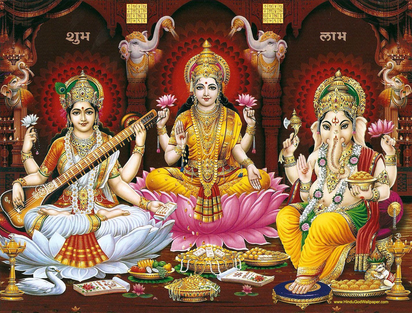Lakshmi Ganesh Saraswati Wallpaper Free Download Diwali Pictures Ganesh Lakshmi Images