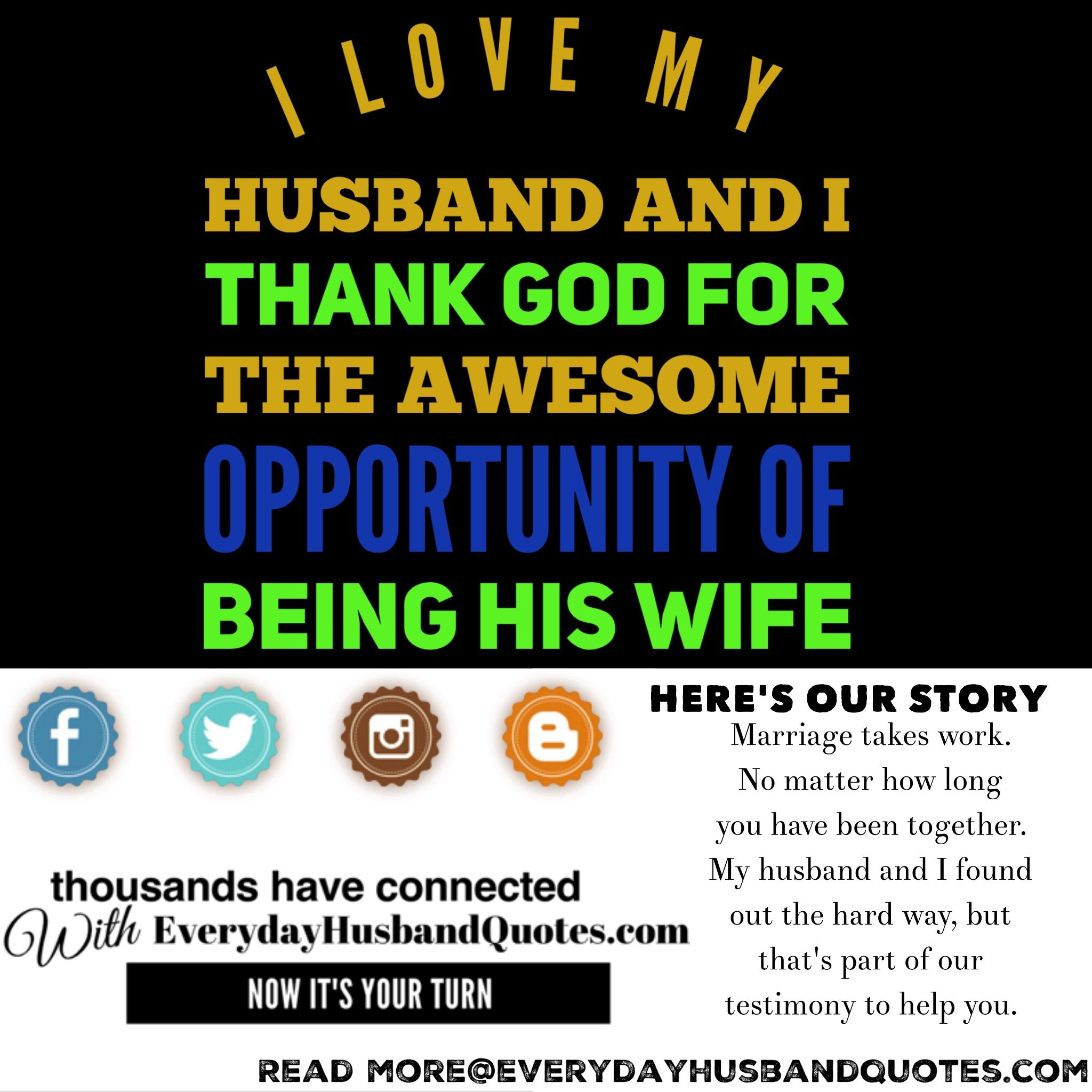Husband Quote I Love My Husband And I Thank God For The Awesome