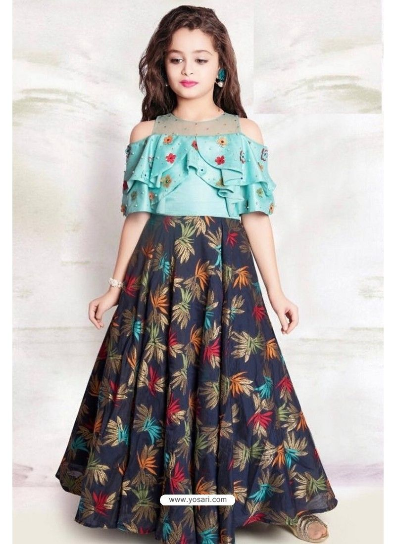 Latest Kids Gown Dress Children Wear Indian Party Frocks Designer Gown For Girls