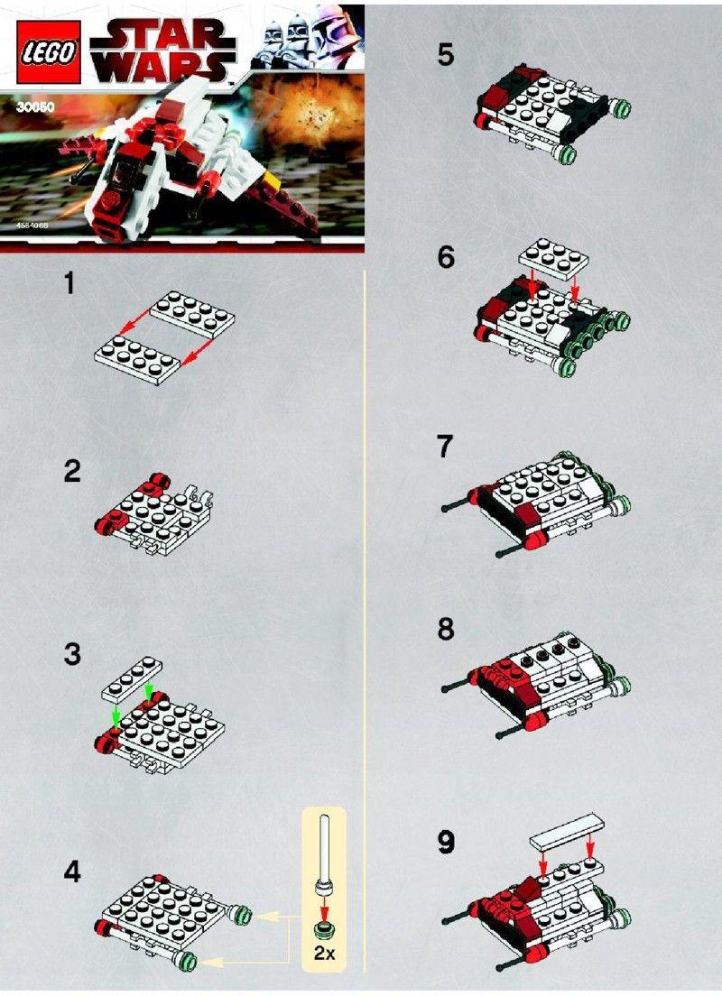 star wars republic attack shuttle lego 30050 lego pinterest lego lego anleitung und. Black Bedroom Furniture Sets. Home Design Ideas