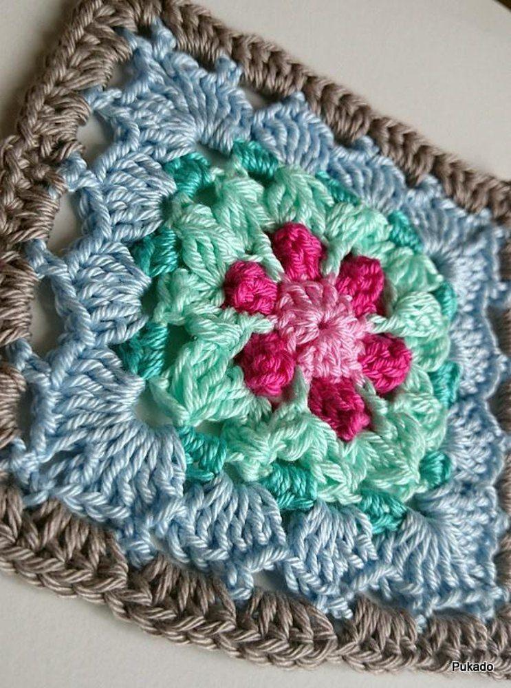 Crochet Mood Blanket - September Square. Find this crochet pattern ...