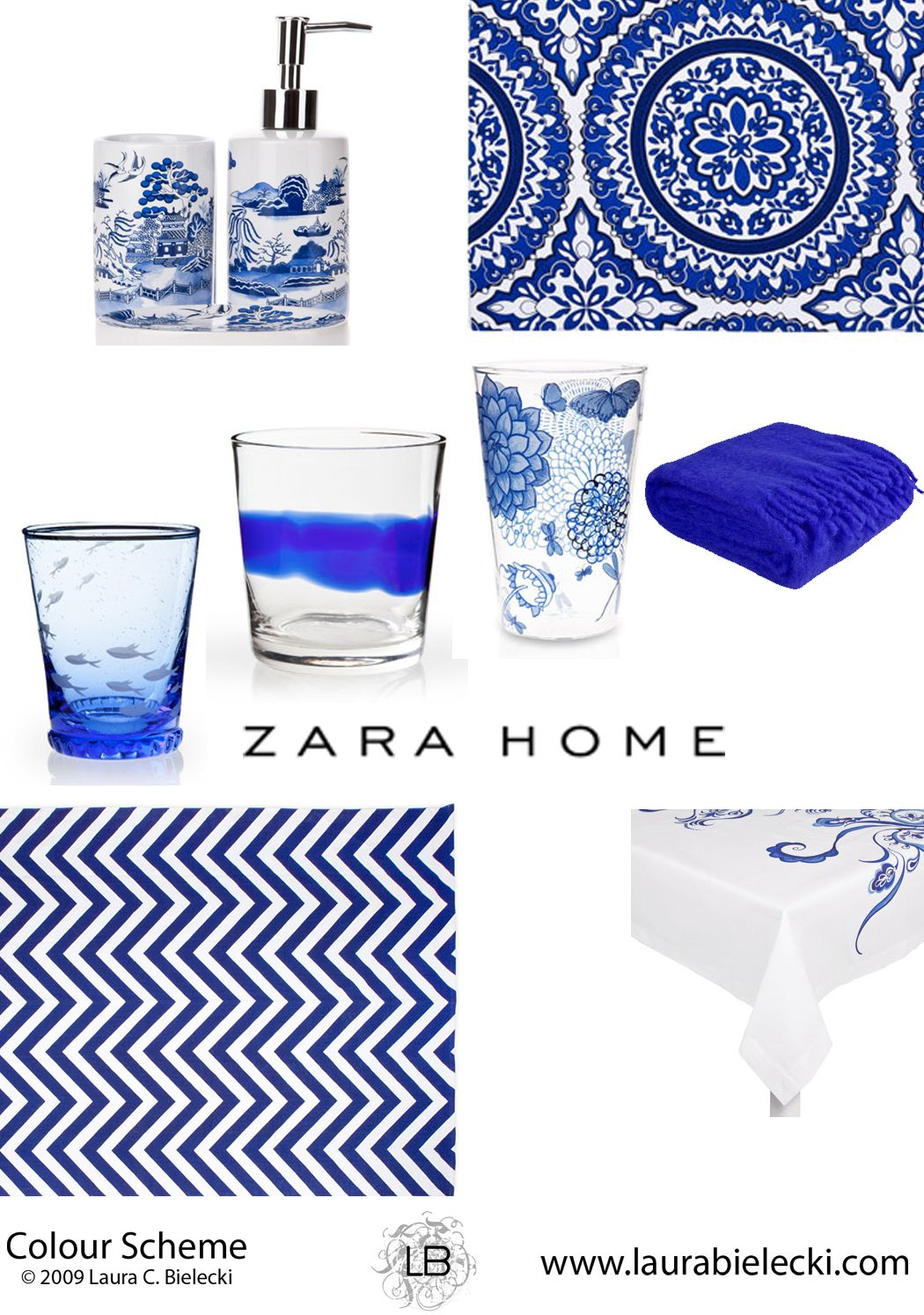 Zara Home blue and white collection | Accessories + Objects ...