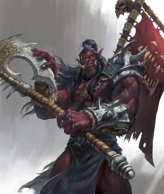 Sombra do Sagrado, orc escravo da Sétima Legião dos Pecados, agora livre no primário. Surgiu em Evras e está se tornando um Senhor da Guerra.