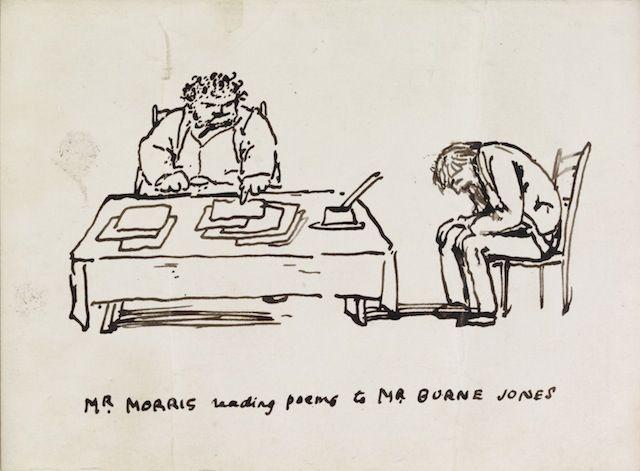 Image result for william morris caricature by burne-jones