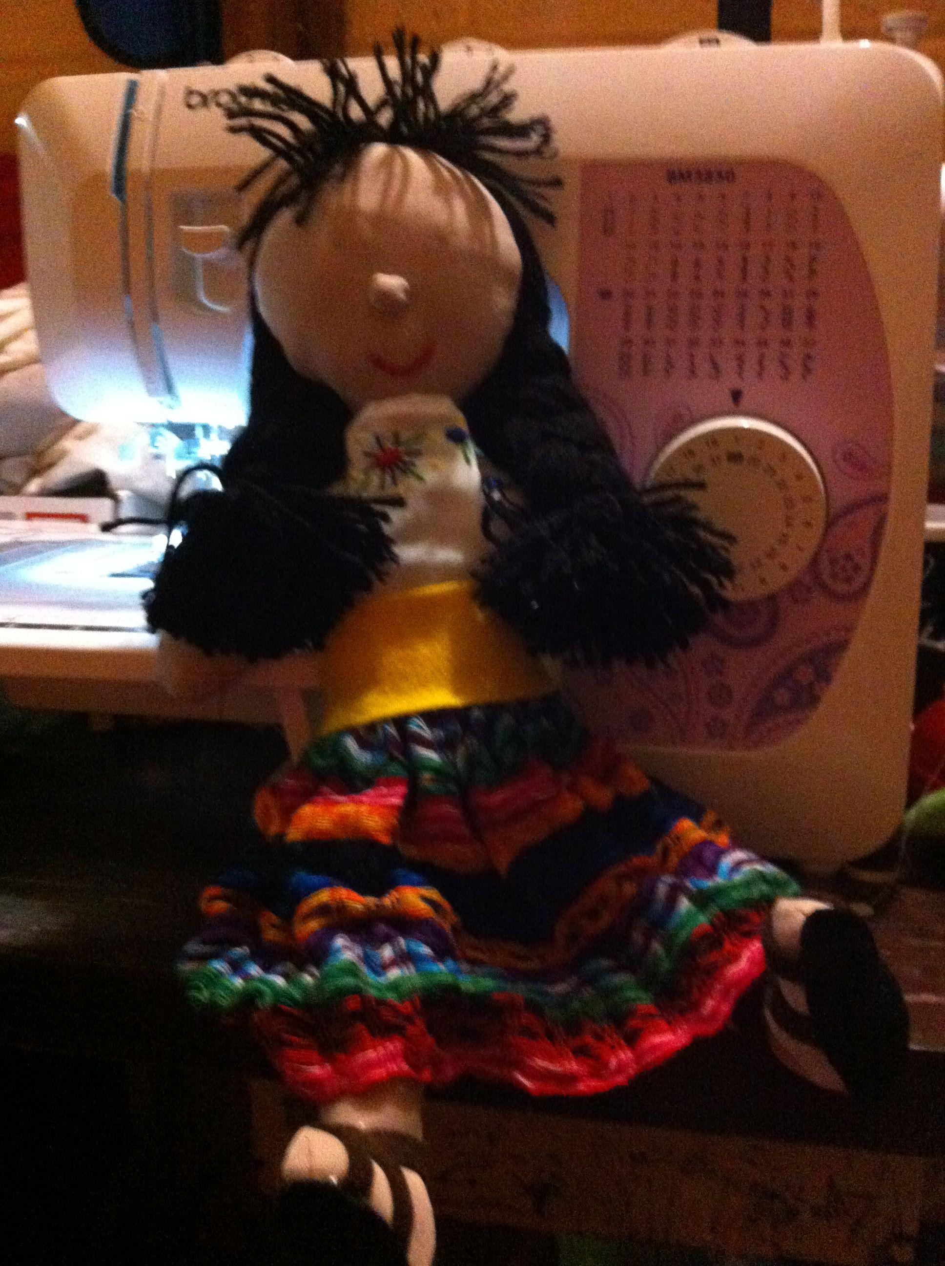 #muñeca de trapo #Guatemala #tradición Muñequita de trapo con traje típico de Guatemala  #tipico