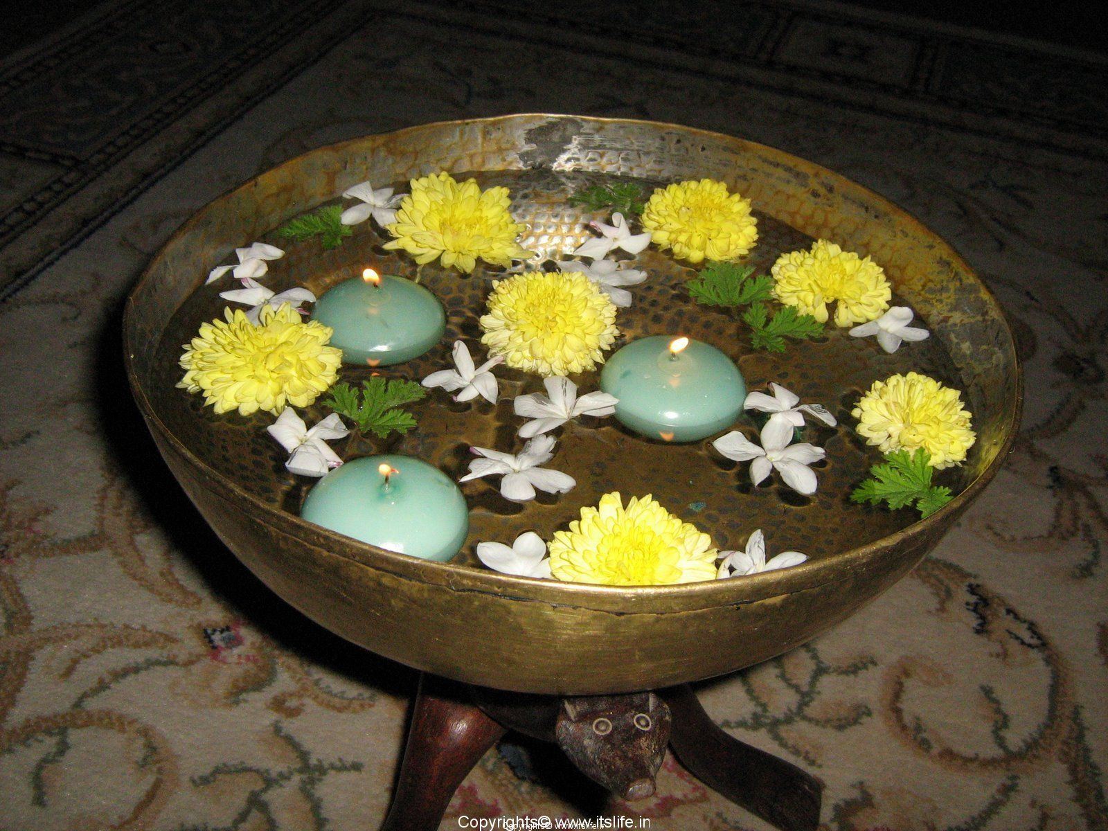 Water Bowl Decoration Floating Candles Decorating Ideas Floating Candles In Diwali
