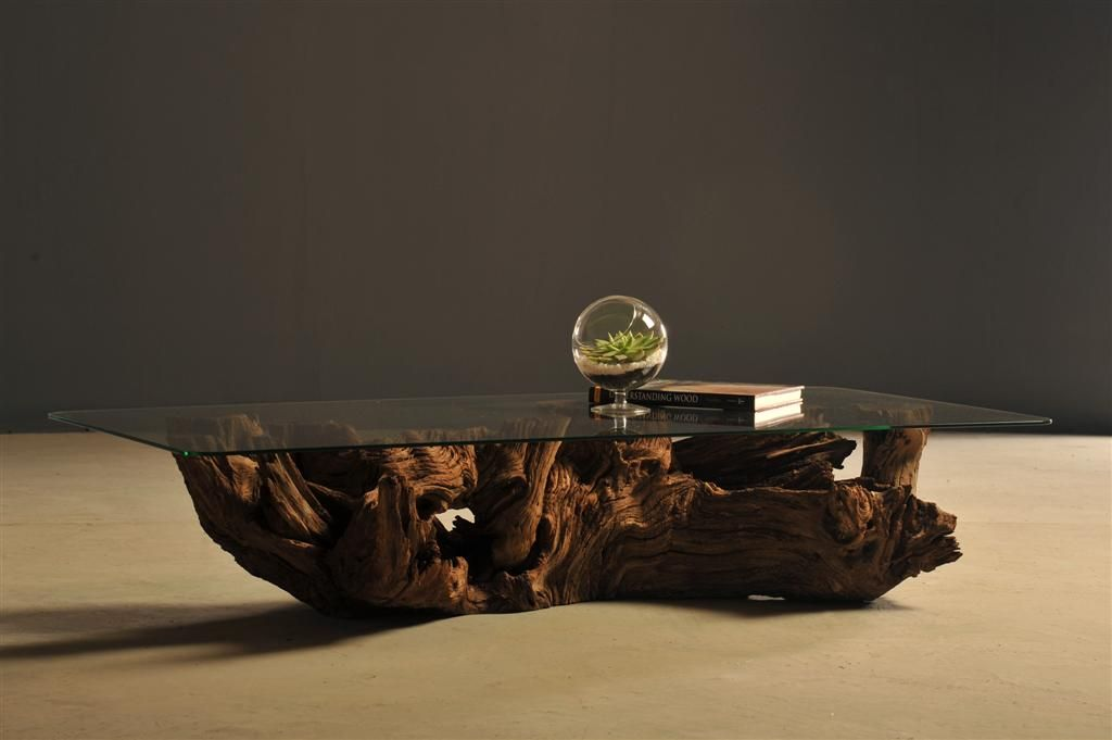 Acacia Stump Coffee Table By Heartwood Furniture