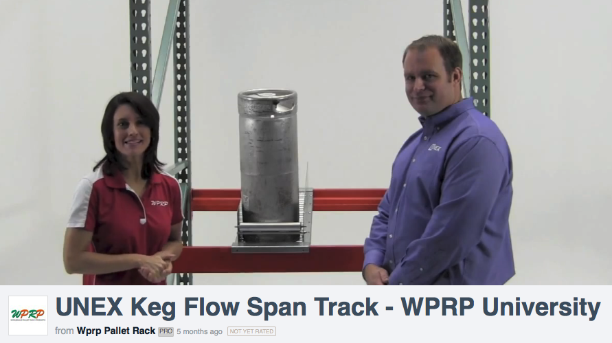 "#MaterialHandling Keg Flow Span Track: Check out our video mini-series ""Would You Like Fries with That"" featuring Brian Neuwirth from UNEX Manufacturing and Linda Anlauf, to learn about First In First Out keg storage and the advantages of a more uniform storage system. http://www.wprpwholesalepalletrack.com"
