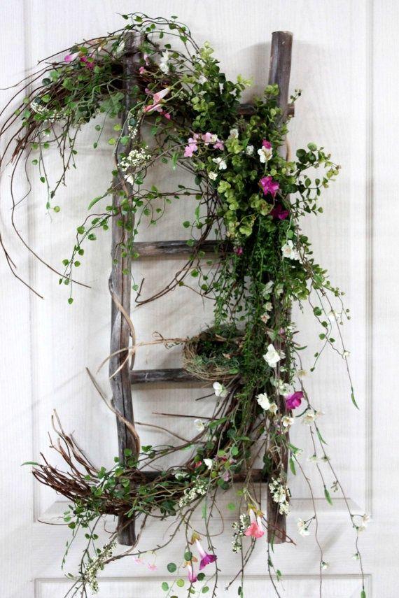 Primavera decoracion t primavera coronas y moos for Puertas decoradas de navidad trackid sp 006