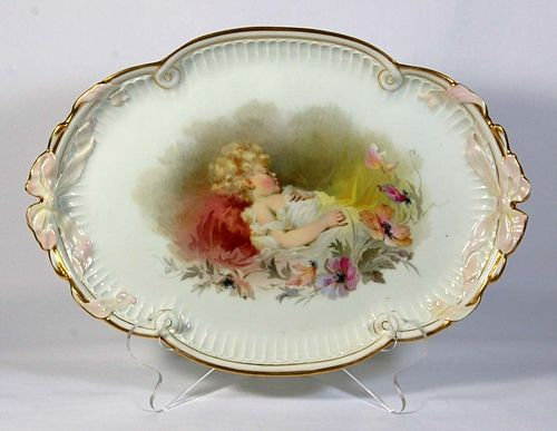 Meissen Tray Sleeping Boy