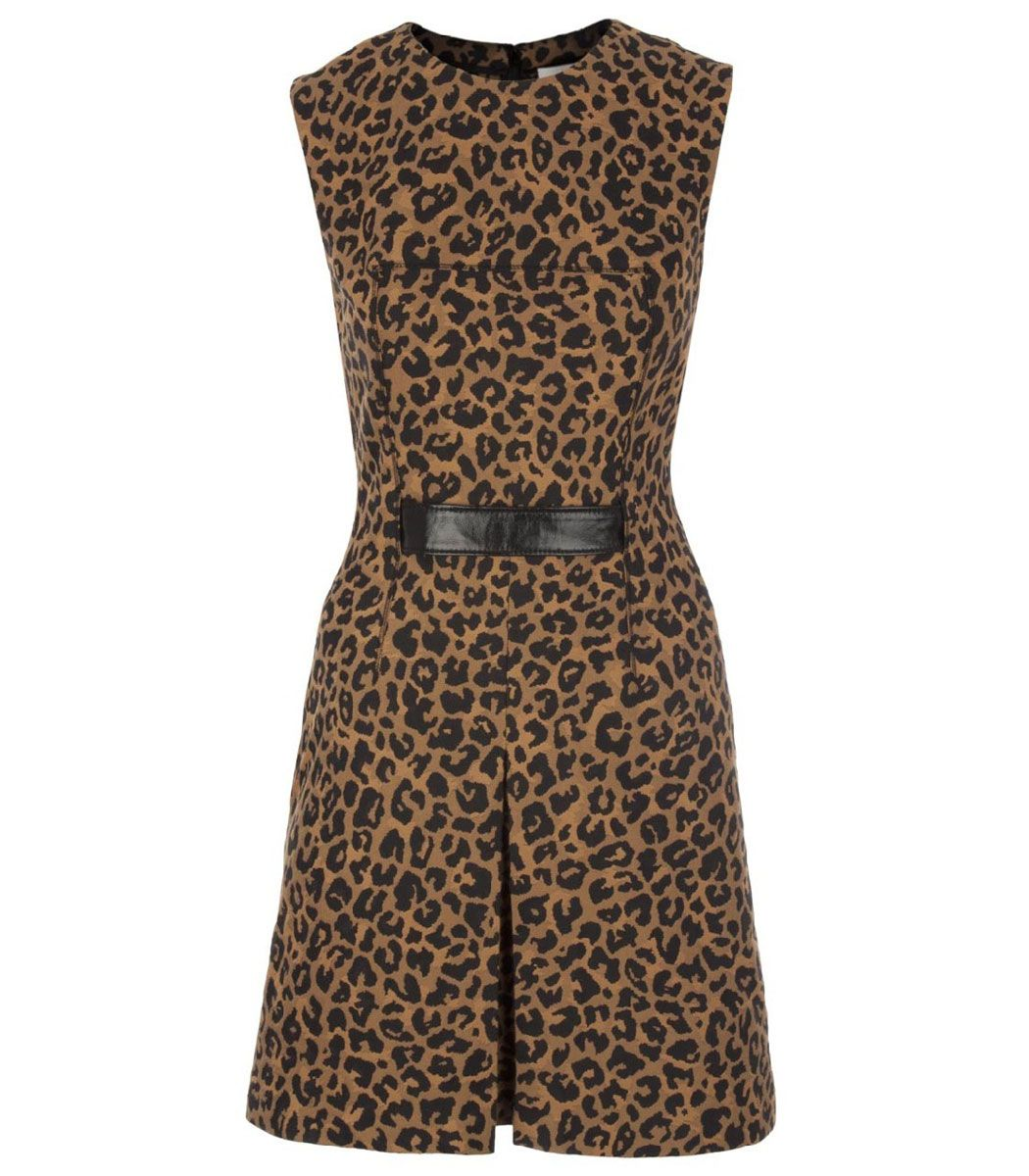 54133ab264 3.1 Phillip Lim Sleeveless Leopard Print Dress - Cat s Meow Trend on   ShopBAZAAR