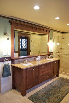 Craftsman Style Bathroom Ideas Vanity Mirror Design Ideas Pictures Remodel And Decor Craftsman Style Bathrooms Simple Bathroom Remodel Bathroom Styling