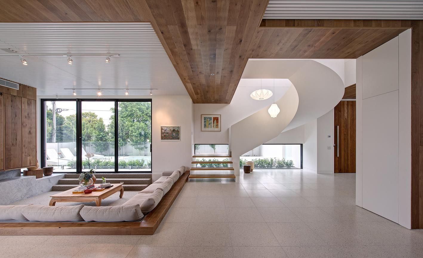 Modern And Warm Mansion Interior Inspiring Serenity In Australia By Georgia Ezra